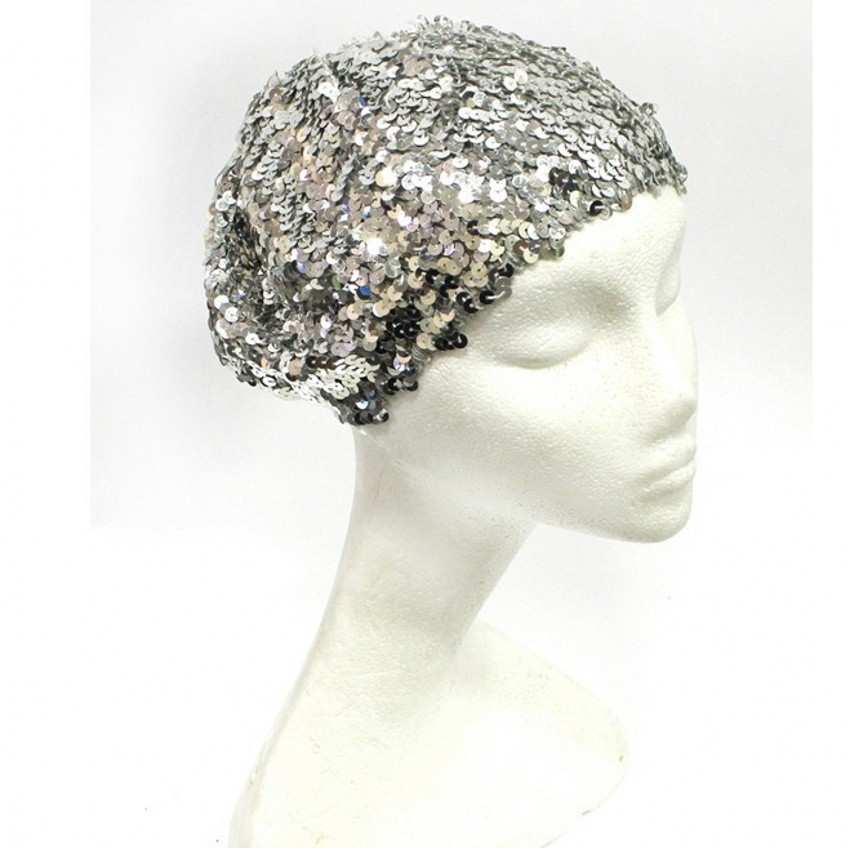 Sequins Stretch Lycra spandex stretch fabric show stopping fabric for stage outfits and dance costumes wedding dress in Hats Caps from Mother Kids