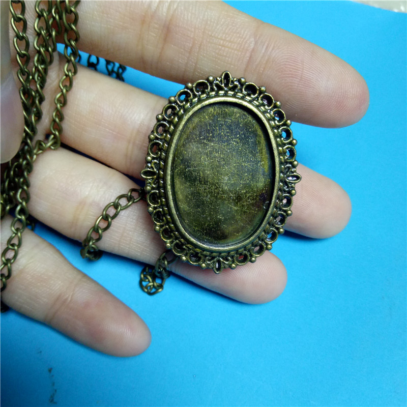 Vintage Retro Quartz Pocket Watch With Sweater Necklace Chain For Women Ladies