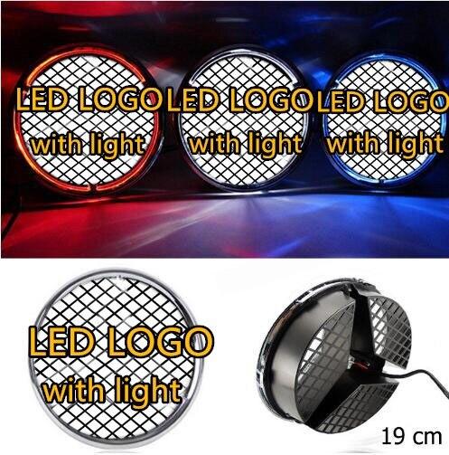 Qirun Illuminated Car LED Light Front Grille Logo Emblem Badge for Mercedes Benz W204 Hood Ornament