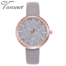 women watches Vansvar Fashion Mesh Watches Women Casual Quartz Analog gift relogio feminino S0910