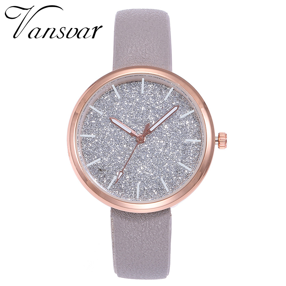 women watches Vansvar Fashion Mesh Watches Women's Watches Casual Quartz Analog Watches gift relogio feminino S0910 vansvar cute moon stars design analog wrist watch women unique romantic starry sky dial casual fashion quartz watches women gift