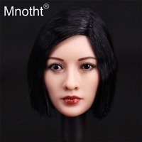 Mnotht Toys 1:6 Asian China Beauty Head Sculpt Action Figure Head Carving Fit for Sexy Female Soldier Body Model Collections m3