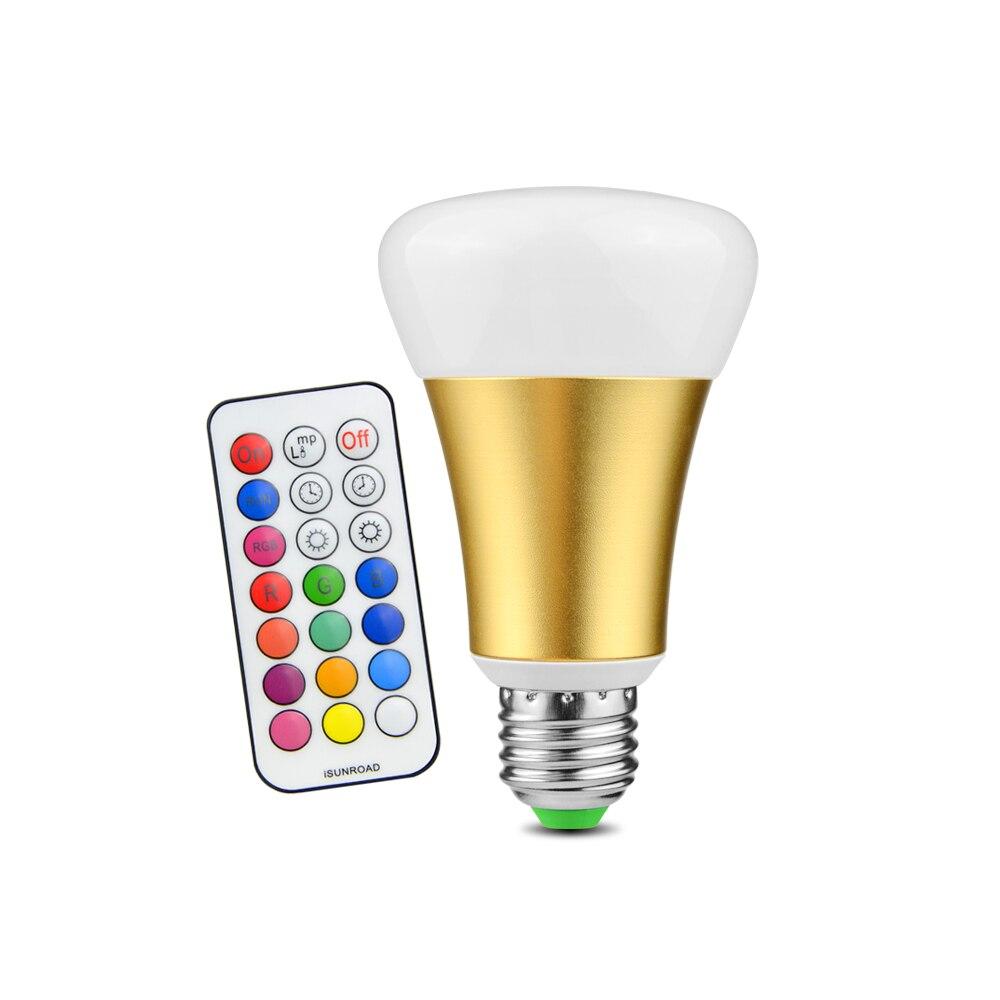 Rgb led lamp 110v 220v e27 10w rgbw rgbww led bulb aluminum led rgb led lamp 110v 220v e27 10w rgbw rgbww led bulb aluminum led light home lighting decor lamp rgb remote control in led bulbs tubes from lights parisarafo Gallery