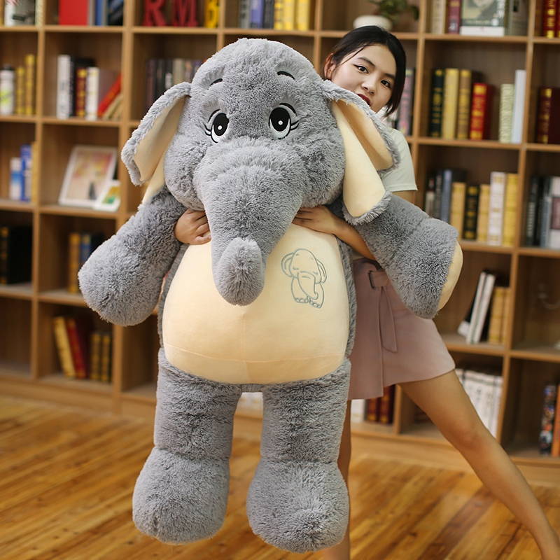 Giant Plush Elephant Toys Grey Stuffed Big Flappy Ears