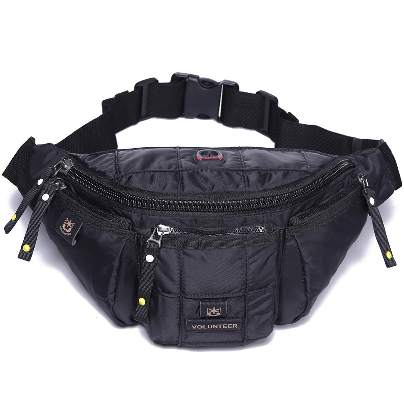 Men High Quality Waterproof Hip Bum Fanny Belt Pack Military Fashion Multi-Pocket Oxford Crossbody Shoulder Waist Chest Bag
