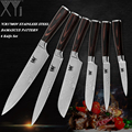 Juego de cuchillos de cocina XYj recién drogados 6 piezas conjunto de herramientas de cocina de acero inoxidable