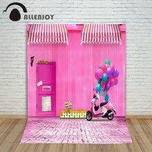 Pictures – background for photos Floor tiles balloon door powder children's photographic camera backdrop vinyl