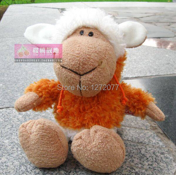 NICI 25cm Orange Cloth Sheep Stuffed Plush Toy, Baby Kids Doll Gift Free Shipping stuffed animal 90 cm plush dolphin toy doll pink or blue colour great gift free shipping w166