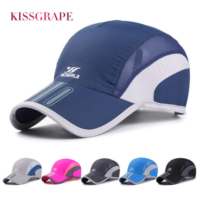 e8f77382a89 Summer Men s Baseball Caps Women Breathable Mesh Thin Snapback Caps Male  Sports Caps Quick Drying Hats
