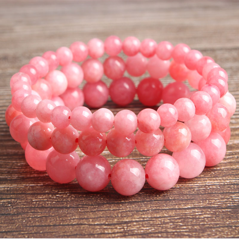 LanLi natural Jewelry 6 8 10 12 mm rose stone Loose Bead bracelet Fashion accessories for men and women and amulet in Beads from Jewelry Accessories