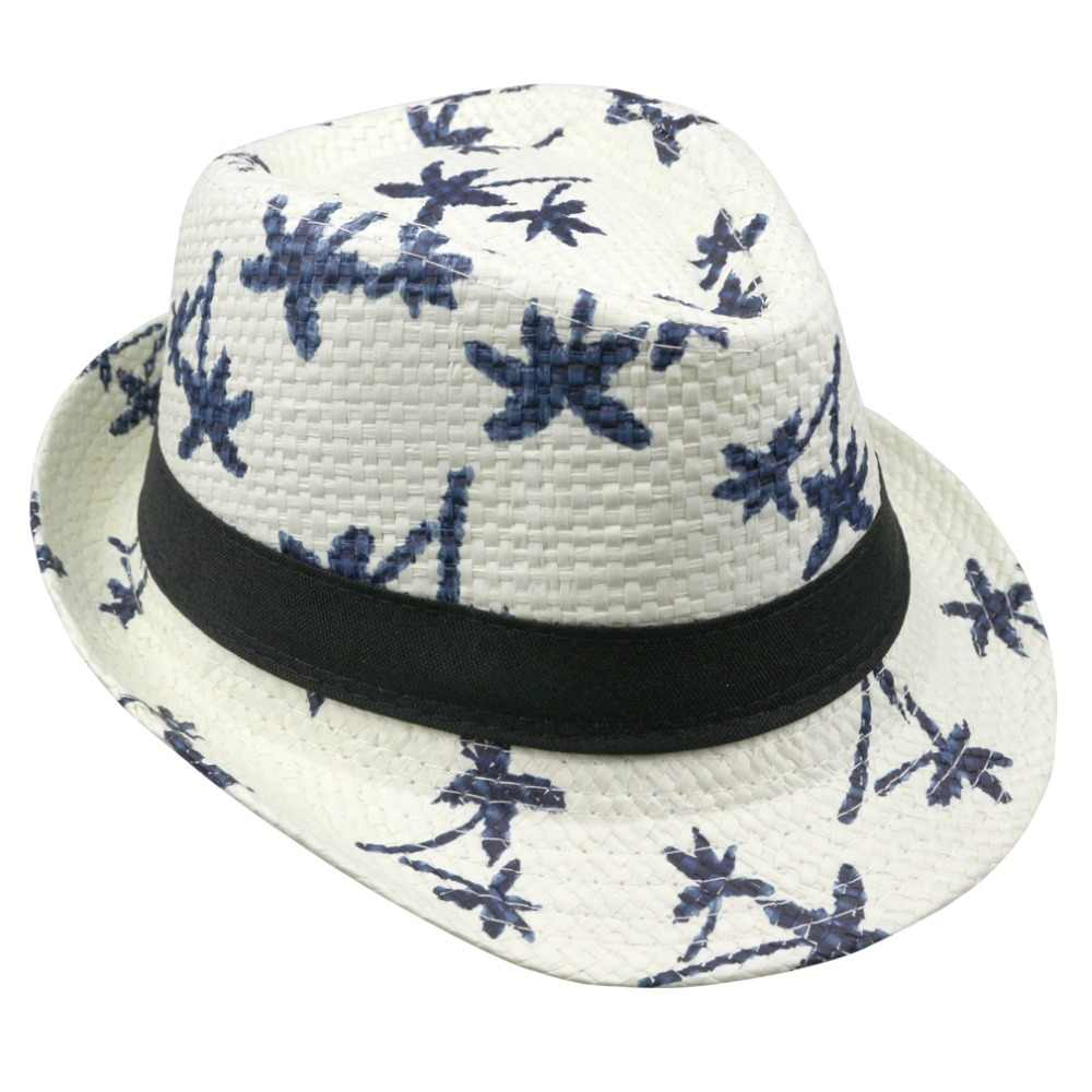 2018 hot sale summer straw sun hat kids beach sun hat trilby panama hat handwork for