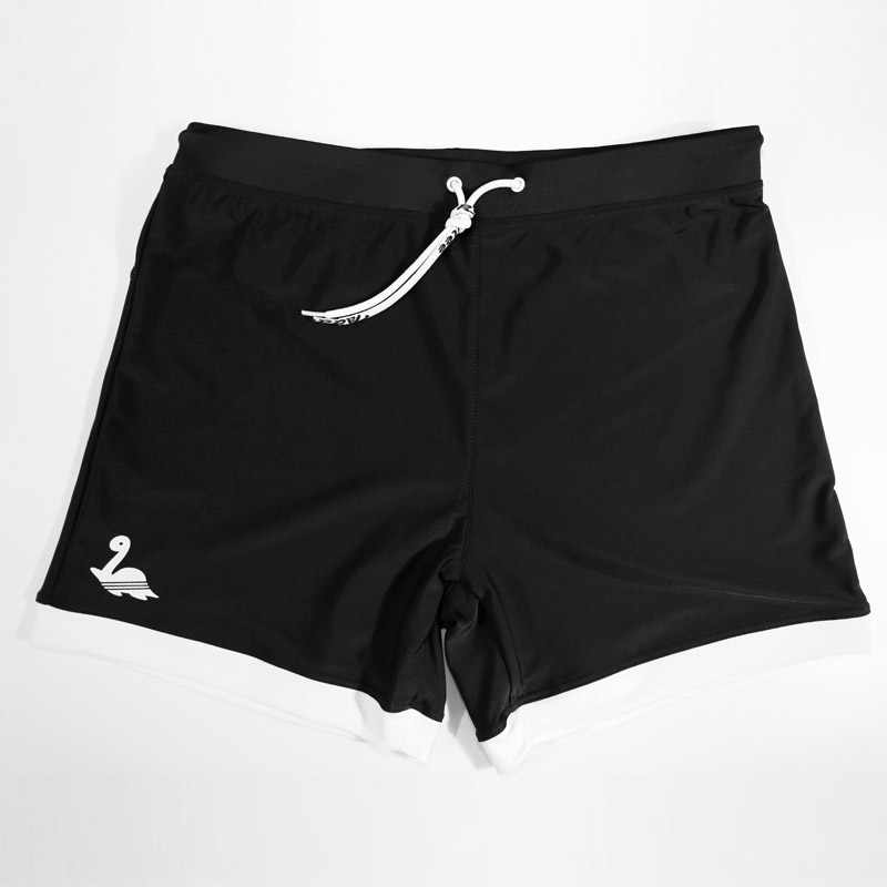 1299ac8cadb7f ... Taddlee Brand Mens Swimwear Swimsuits Swim Boxer Trunks Long Solid  Color Black Board Surf Shorts Big ...