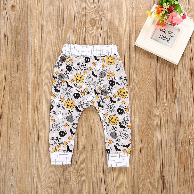 Halloween Children Baby Boys Girls Clothing Set Patchwork Long Sleeve Top+ Pants Suit Babies Kids Funny Print Costume 2017 New