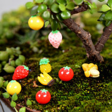 Zocdou 1 Buah Buah Sayuran Pisang Strawberry Tomat Apple Orchard Model Kecil Patung Figurine Kerajinan Ornamen Miniatur(China)