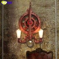 Фумат Лофт Винтаж шестерни настенный светильник скандинавские промышленные железные старинные настенные лампы Бар лестницы водопровод на