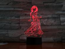 Usb 3d Led Night Light Decoration Girls Children Kids Baby Gifts 7 Color Changing Visual Table Lamp Princess Jasmine Figure fairy tale mermaid princess 3d lamp 7 color led night lamp for kids touch remote usb table lamp baby sleeping night light