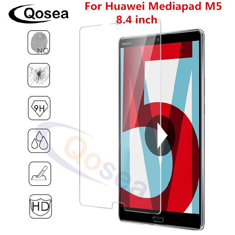 Qosea Pour Huawei Mediapad M5 8.4 pouces Écran Protecteur 9 H 2.5D Clair Tablet Film Protecteur MediaPad M5 10.8 pouces trempé Verre