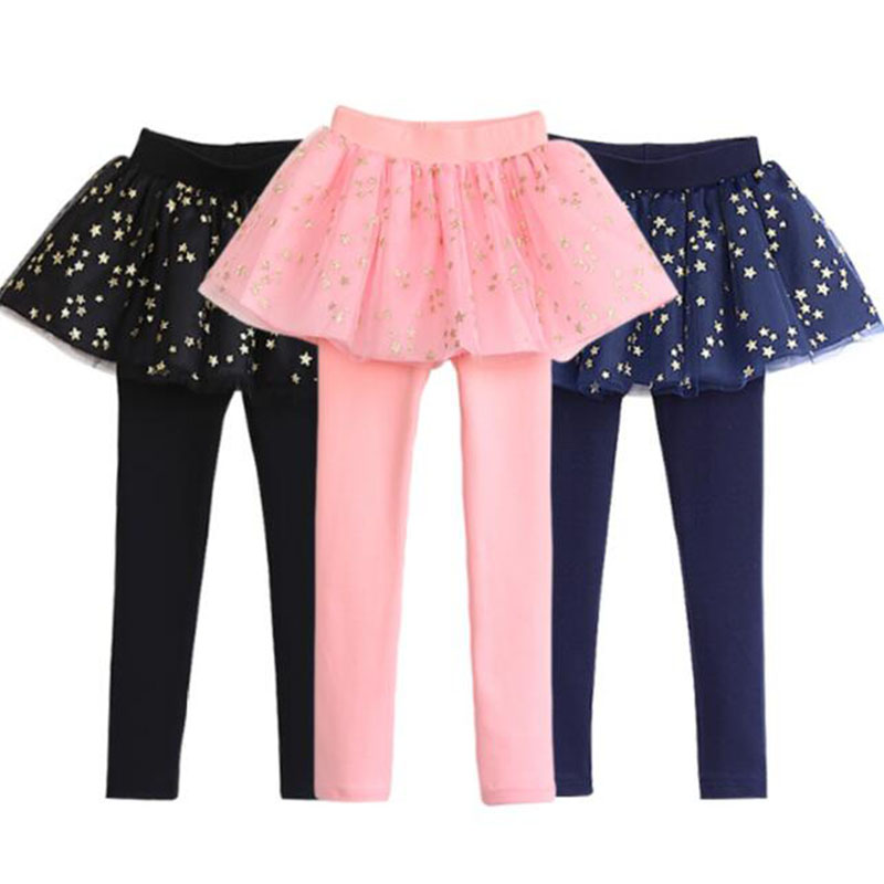 Spring Autumn 2018 New Girls Leggings Girls Skirt-Pants Kid Pants Fashion Cake Skirt Girl kids Leggings Trousers Leggings Pants spring autumn girls butterfly flower print leggings kids children slim pants