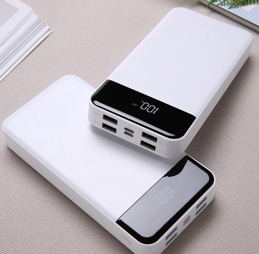 30000mAh power bank 4USB mobile power LCD digital display charging treasure Type-C mobile power For xiaomi For iphone 6/7/8 plus