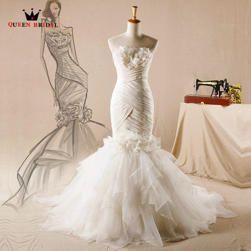 Vintage Wedding Gown Designers: Vintage Wedding Dresses Mermaid Ruffle Feathers Sexy Long
