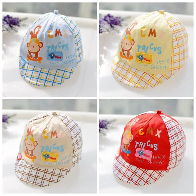Mono de dibujos animados boy gorra de béisbol cap algodón del bebé ...