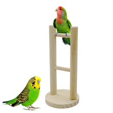 1Pcs Parrot 12.5cm x 26cm Product Birds Toys Station Rack Ladder Training Gnawing Swing Shelves toys Supplies