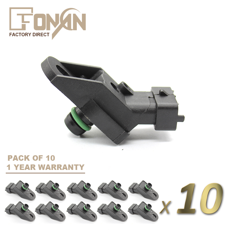 MAP SENSOR FOR OPEL VAUXHALL ASTRA G OMEGA VECTRA B <font><b>ZAFIRA</b></font> <font><b>2.0</b></font> DI <font><b>DTI</b></font> 1.7 TD OE # 46433053 46468682 90541409 0261230029 image