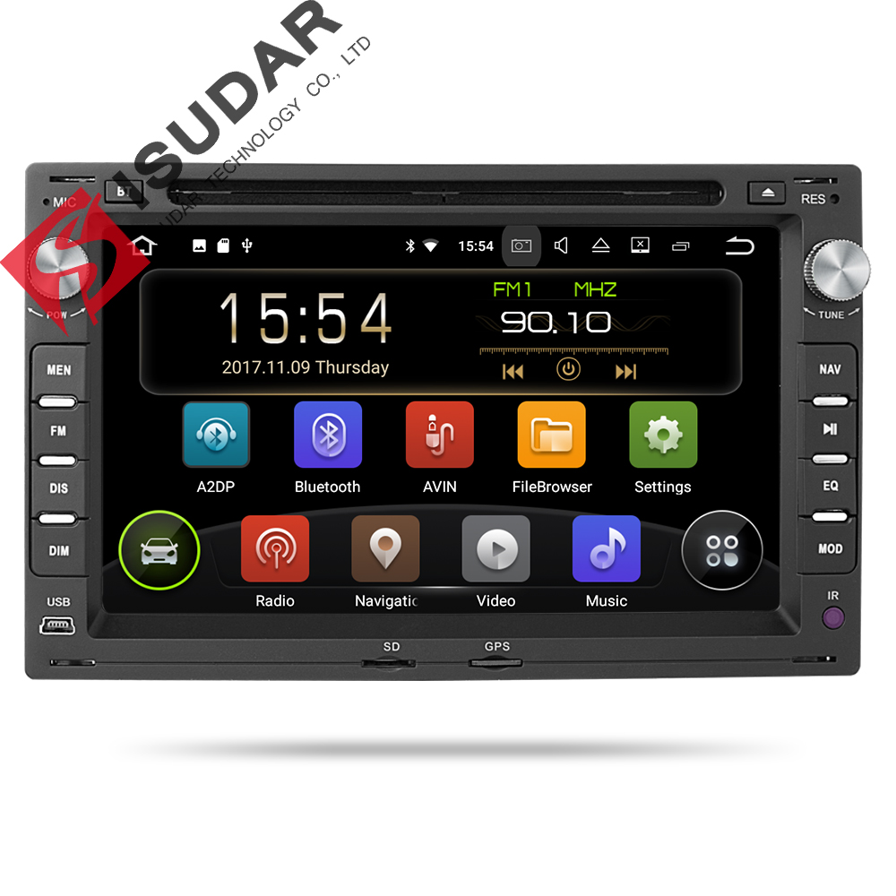 Isudar 2 Din Car Radio Gps Android 8.1 For VW/Volkswagen/GOLF/POLO/TRANSPORTER/Passat b5 Car Multimedia DVD Player Automotivo FM isudar car multimedia player 1 din android 8 1 0 dvd automotivo for vw volkswagen polo passat golf skoda octavia seat gps radio