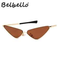 Belbello Women Fashion Sunglasses European American Trends New Sunglasses Metal Frames Tourism Fishing Triangle Sunglasses UV400 niksihda 2019 european and american pop polarized sunglasses fashion sunglasses anti ultraviolet sunglasses uv400