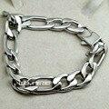 SilverTone 316L Stainless Steel Link Chain Men's Bracelet 22cm B179