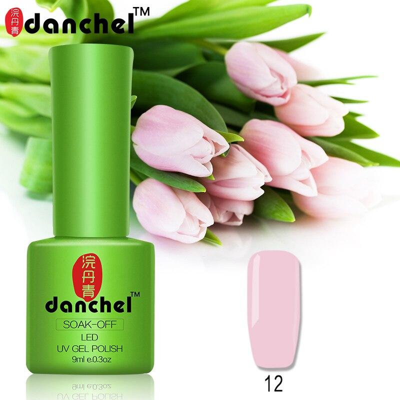 Danchel 9ml Soak off Nail Gel Polish 79 Colors Soak Off Gel Top Base Coat Gel