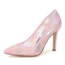 Süße spitz durchsichtig atmungsaktive sommer stil pumpen hochzeit homecoming mutter schuhe rosa schwarz weiß 10 cm heels