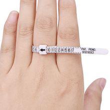 Multifunction Helpful UK and US Ring Sizer Measure Finger Gauge For Wedding Band Genuine