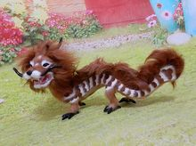 large 32x18cm brown chinese dragon hard model,polyethylene&furs handicraft Figurines&Miniatures home decoration toy gift a2885
