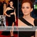 Sexy Emma Watson diseñador un hombro recortable cintura hendidura lateral largo Maxi Mermaid Red Carpet Celebrity Dresses vestidos de alta costura