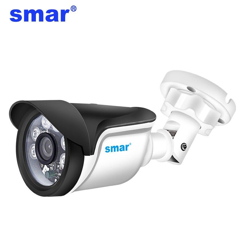 Smar H.264 POE IP Câmera Ao Ar Livre 720P 960P 1080P Câmera de Segurança 24 horas De Vigilância Por Vídeo Com ICR onvif POE 48V Opcional