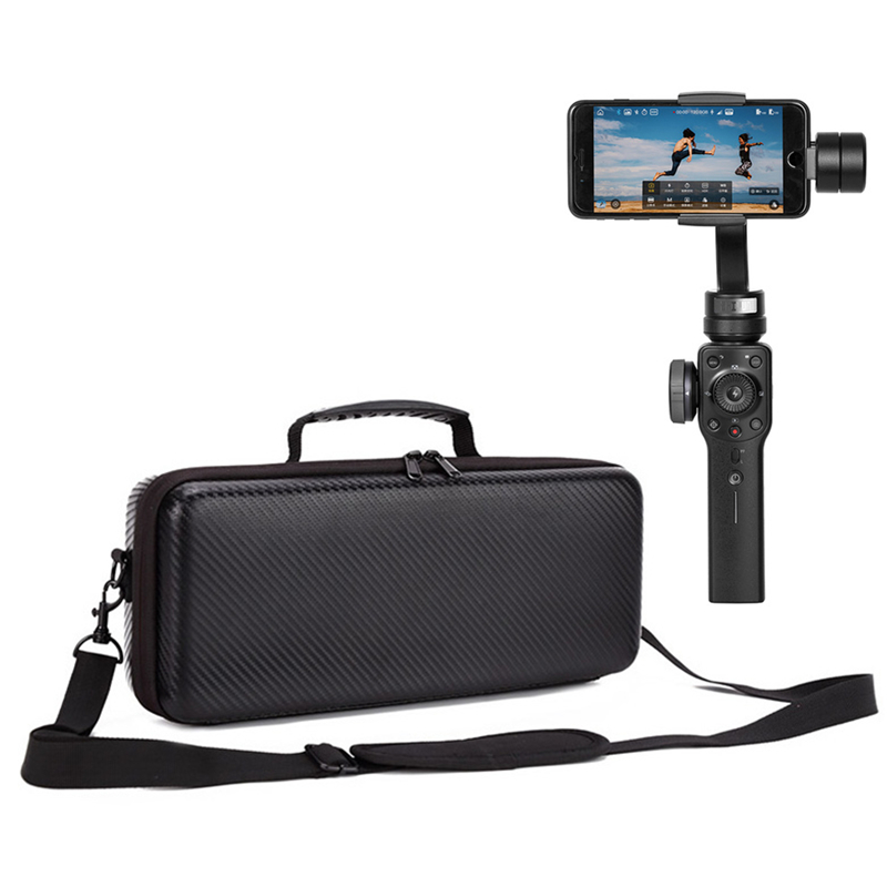 Cardan Caméra Zhiyun Lisse 4 sac PU/Boîte de Transport En Nylon Portable Valise Sac À Main Épaule Sac pour Lisse 4 De Poche cardan