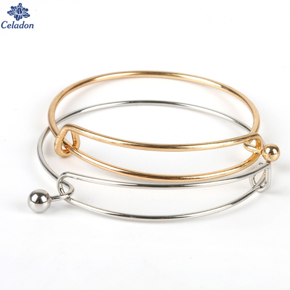 Us 1 93 42 Off 6pcs Adjule Expandable Iron Bangle Bracelet Fashion Wire Bracelets Can Open For Women Jewelry Making Handmade Gifts In