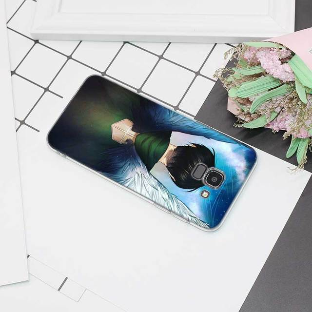 Attack On Titan Transparent Soft Silicone Case Cover for Samsung Galaxy J Series