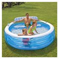 Inflable Redonda Color Sólido de Natación Piscina de Agua Bañera Familia Niños Kid 224*216*76 CM Piscina Bebe Zwembad A203