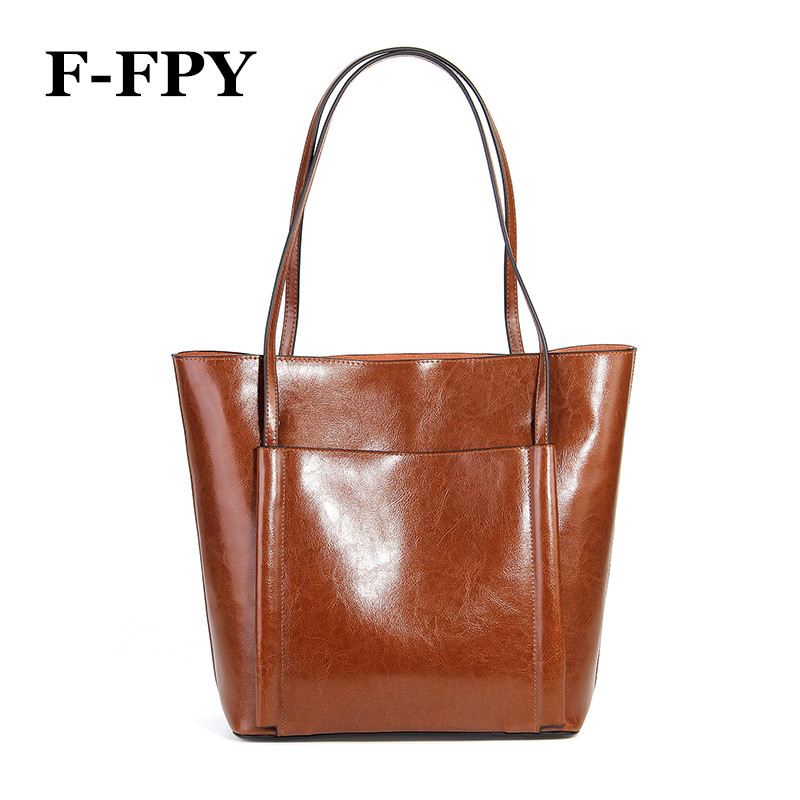 где купить New Women Casual Tote Genuine Leather Handbag Fashion Ladies Large Capacity Shopping Bag Brand Designer Female Big Shoulder Bag по лучшей цене