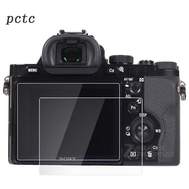 PCTC 2pcs 0.3mm For Sony A7R A7S HD anti scratch fingerprint toughened glass screen protective film