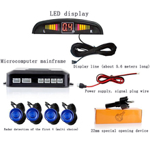 1Set Car LED Parking Sensor Kit Display 4 Sensors 22mm 12V for All cars Reverse Assistance Backup Radar Monitor System