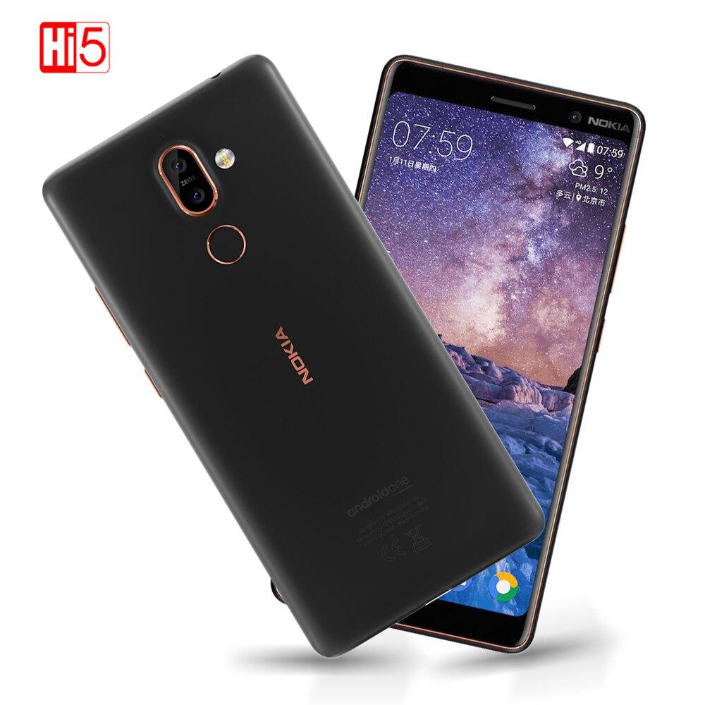 Nokia 7 Plus 2018 Android 8.0 ROM 64G Snapdragon 660 núcleo octa 6.0 ''Exibição 3800mAh Bluetooth 5.0 firmware do telefone móvel Global