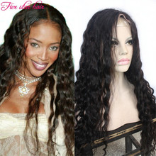 Full Lace Loose Wave wig natural hairline Silk Top Glueless Lace Front human hair wigs Brazilian virgin hair for black women