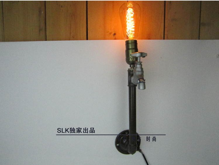 Vintage mur lampe vintage luminaires industrielle tuyau en métal