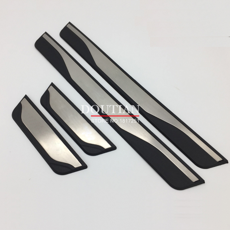 New stainless steel door sill Scuff Plate Welcome Pedal For Mazda3 Mazda 3 axela 2014 2015 2016 2017 Car Styling Accessories
