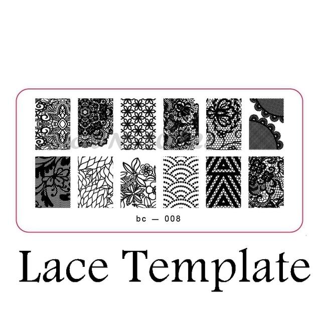 Geometric Patterns Lace Nail Stamping Image Plate DIY Nail Print ...