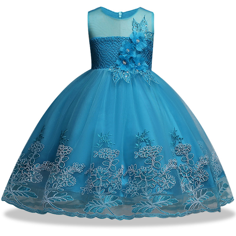 Flowers Girls Dress Wedding Princess Dresses For Girls Summer ...