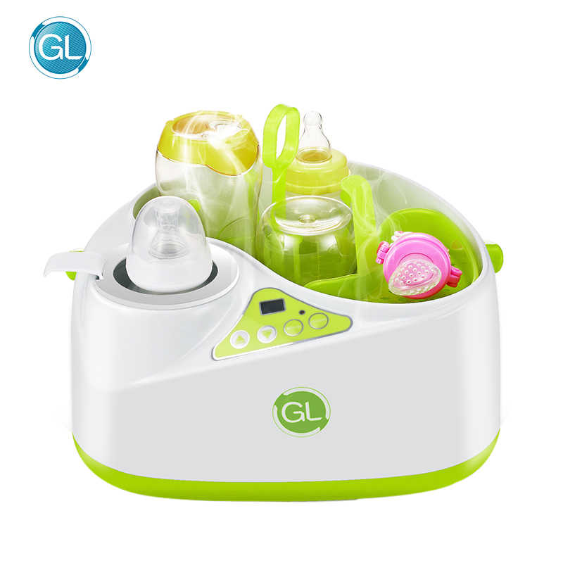 GL Multifunction 2 in 1 Bottle Sterilizer Bottle Warmer Milk Thermostat Steam Disinfection Machine Baby Drinking Water Heater